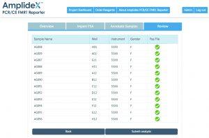 AmplideX Reporter Screen Shot A